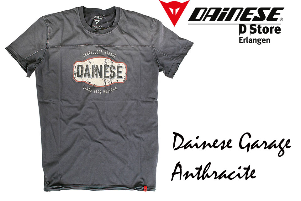 new dainese t shirt dainese garage anthracite size m ebay. Black Bedroom Furniture Sets. Home Design Ideas