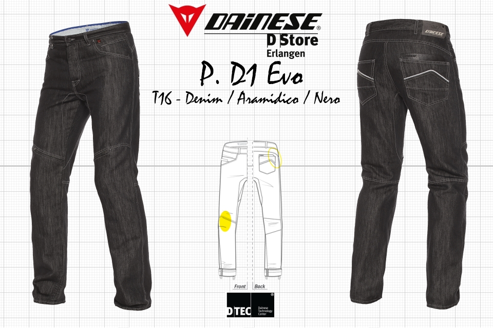 Details about NEW DAINESE JEANS PANTS D1 EVO DENIM ARAMIDICO NERO SIZE 39